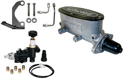 "Wilwood Tandem Master Cylinder,1 1/8"",with Adjustable Combo Proportioning Valve"