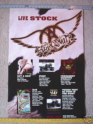 AEROSMITH collectible promotional poster Live Stock