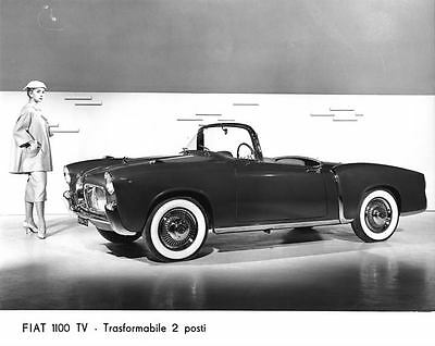1956 1957 Fiat 1100TV Roadster Automobile Photo Poster zu2191-H4Z11N