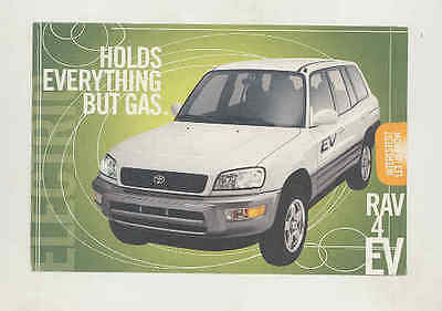 2001 Toyota RAV4 SUV Electric Car Factory Postcard wt5457