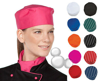 Chefs Cap Striped & Plain 10 Colours Skull Chef Hat
