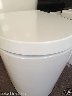 Soft slow closing high quality toilet seat closed coupled toilet@QLD