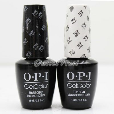 OPI GelColor Soak Off Gel Kit  BASE +TOP COAT 0.5oz DUO SET OF 2 GC 010 030