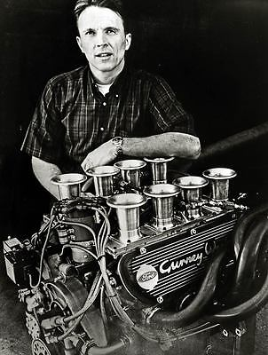 1967 Ford Weslake Engine & Dan Gurney Factory Photo u291-7E2PSD