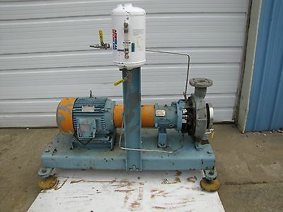 Duriron 2K4X3-10H/96 Stainless S/s Centrifugal Pump 475 Gpm W/ 20Hp 460V 3Ph