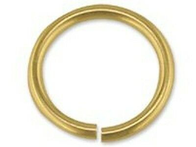 5x  9 Ct Yellow Gold Open Jump rings heavy / light 3 4 5 6 7 8 9 mm