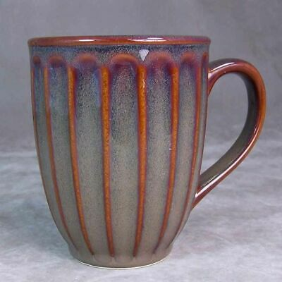 Sakura Espresso Dinnerware SAK14 Brown/Rust Panels Coffee Mug