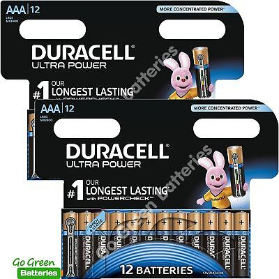 24 x Duracell AAA Ultra Power Alkaline Batteries, 2027 exp - LR03 MX2400 MN2400