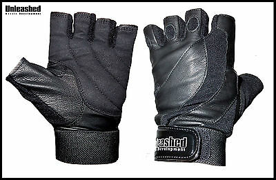Unleashed Amara Weight Lifting Gym Gloves - Leather Weightlifting