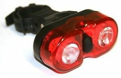 Literover Dual Eyes Tail Light Bicycle Led Bike Rear Safety