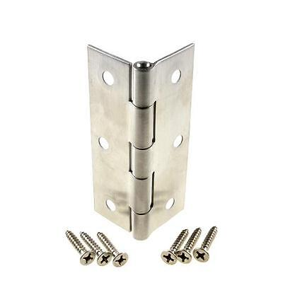 75mm x 50mm Stainless Steel Butt Hinge Fixed Pin Door Qty: 12 Pair (24 Hinges)