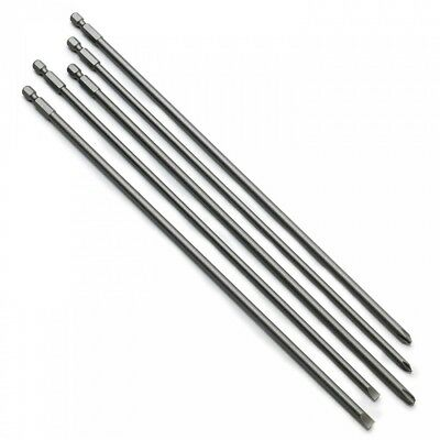 """5 Super Long Bit 12"""" Tips For Screwdriver Drill Phillips Straight #1 #2 #3"""