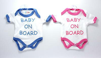 Baby Child on Board Safety Car Window Sign Boy Girl Mini Bodysuit suction cup