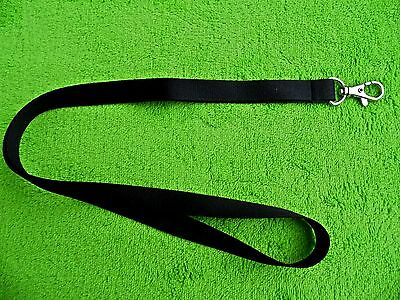 5 x BLACK LANYARD NECK STRAP WITH STRONG METAL SWIVEL CLIP FOR ID CARD HOLDER