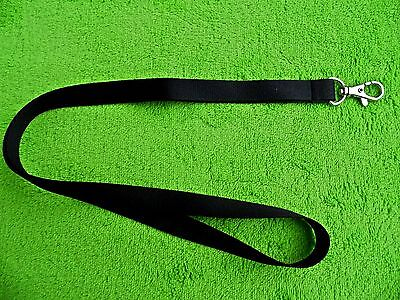 Black Lanyard Neck Strap With Strong Metal Swivel Clip For Id Card Holder