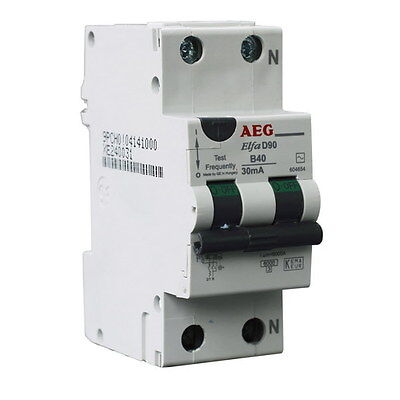 GermanAEG 2 Pole RCD MCB RCBO 6KA 30mA 40A safety switch Brand NEW free post