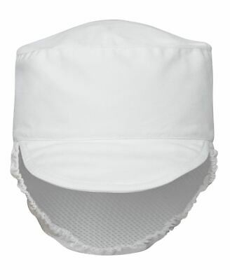 6 Pack Food Prep Hat Hair Net Cover Cap With Peak Chef Cook