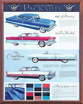 Packard original dealer showroom poster, 1956