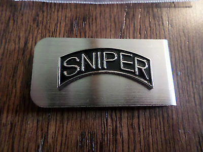 U.s Military Army Sniper Metal Money Clip U.s.a Made New In Bags