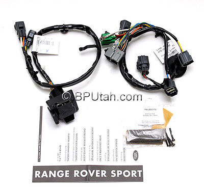 oem 06~09 range rover sport tow hitch trailer wiring harness electrics  ywj500170