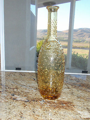 Vintage Amber Dot Glass Decorator Bottle