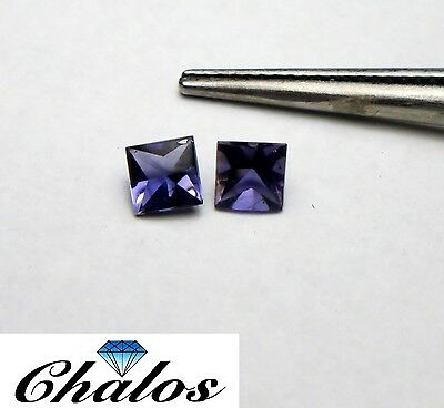 1x Iolith Cordierit - Princess Bufftop 4x4mm (2501)