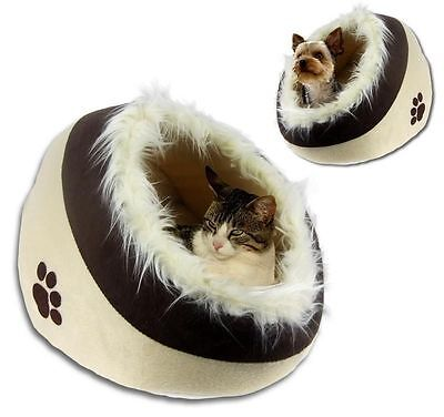 New Animal Print Pet Bed Cave Igloo Snuggle Bed House Dog Puppy Cat Kitten
