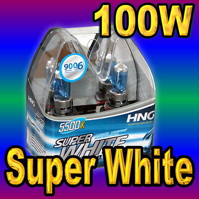 Pair 9006 Xenon White Headlight Bulbs Car Low Beam 9012 HB4 100W