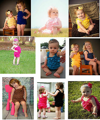 Lace Petti Romper Posh Girls Baby Toddler Infant Outfit Boutique Photos 0-6 Yrs