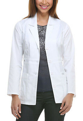 "White Dickies GenFlex Youtility Junior Fit  28"" Lab Coat 82408 DWHZ"