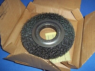 "Wire Brush Wheel 6"" X 1¼"" .0118 Wire 2"" Ah, Nib"