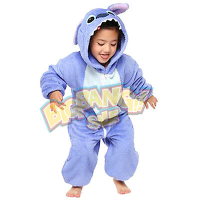 Animal Stitch Onesie Party Cosplay Costume Pajama Kids Children Family Unisex