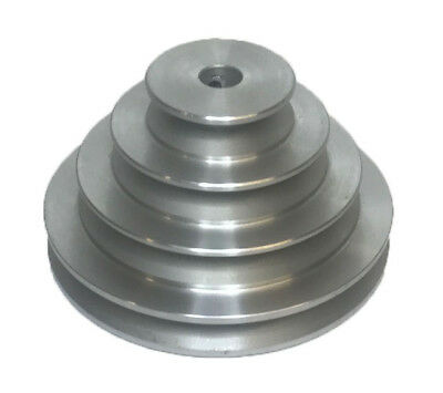 """Rdgtools 4 Step Vee Pulley 5/8"""" Bore 2"""" 3"""" 4"""" 5"""" Diameter A Section Pulley"""