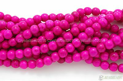Pink Howlite Turquoise Gemstone Round Beads 2mm 3mm 4mm 6mm 8mm 10mm 12mm 16""