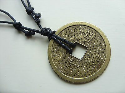 A large chinese feng shui wealth lucky coin charm pendant necklace a large chinese feng shui wealth lucky coin charm pendant necklace tribal surf aloadofball Choice Image