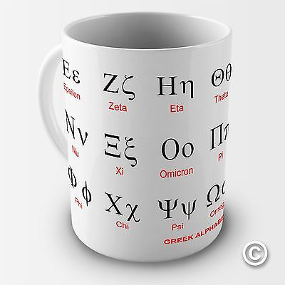 Greek Alphabet Alpha Education Coffee Mug