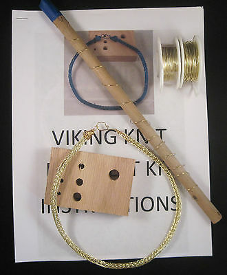 Gold Necklace VIKING KNIT Necklace KIT & INSTRUCTIONS hypo allergenic  #424