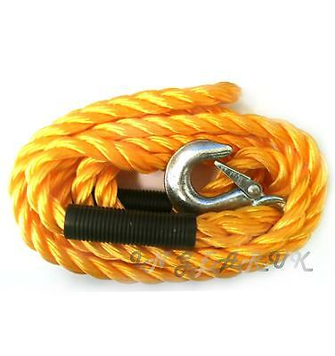 Emergency 2 Tonne 3.5m Long Car Towing Woven Tow Rope Breakdown Road Recovery