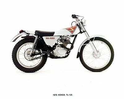 1976 Honda 125 TL125 Motorcycle Factory Photo u6501-MBWJU8