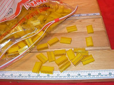 AMP MTA-156 640427-8 Yellow Connector Insulation Displacment 8 pin IDC LOT 450+
