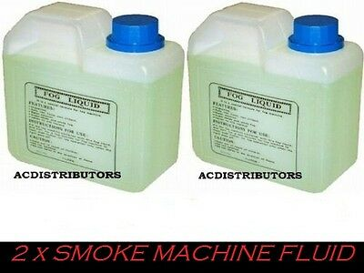 "SMOKE FLUID NEW  2 x 1Ltr Quality Smoke / Fog Machine Fluid ""HOT Price"""