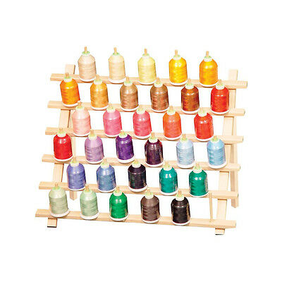 33 LARGE SPOOLS & CONES THREAD STAND RACK w/Legs EMBROIDERY SEWING QUILTING