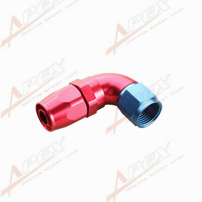 Swivel 90 Degree 10An An10 10An -10An Hose End Fitting Red/blue