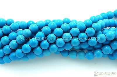 Blue Howlite Turquoise Gemstone Round Beads 2mm 3mm 4mm 6mm 8mm 10mm 12mm 16""