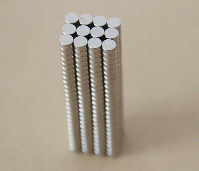 100pcs 4 X 2mm Nd-Fe-B Super Strong N35 Magnets Disc Rare Earth For Craft Models