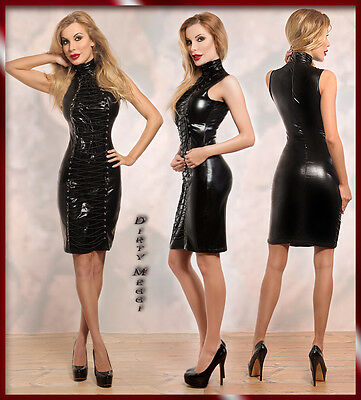 Wetlook Minikleid Mini Dress Kleid Party Clubwear Gr. S M 36 38