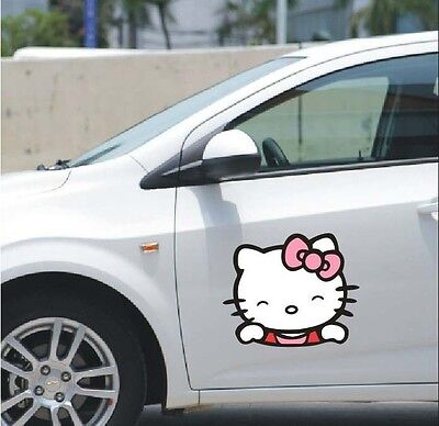 Cute Hello Kitty Red Bowknot car trunk stickers body decal 5.5'' ( 2 pcs/ set)
