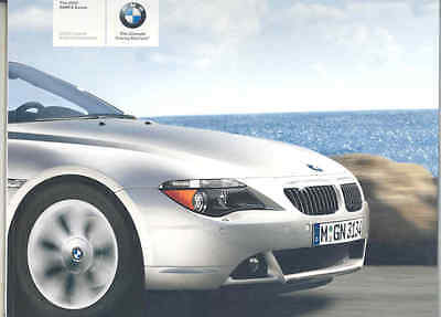 2005 BMW 645Ci Coupe & Convertible Prestige Brochure wt5767
