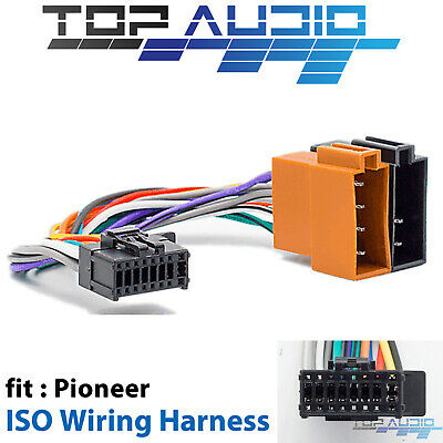 Pioneer to ISO Wiring Harness for DEH-X8550BT DEH-X6550BT DEH-4550BT DEH-X3550UI