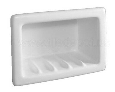 Recessed Soap Dish Porcelain 6 x 4 Made in the US